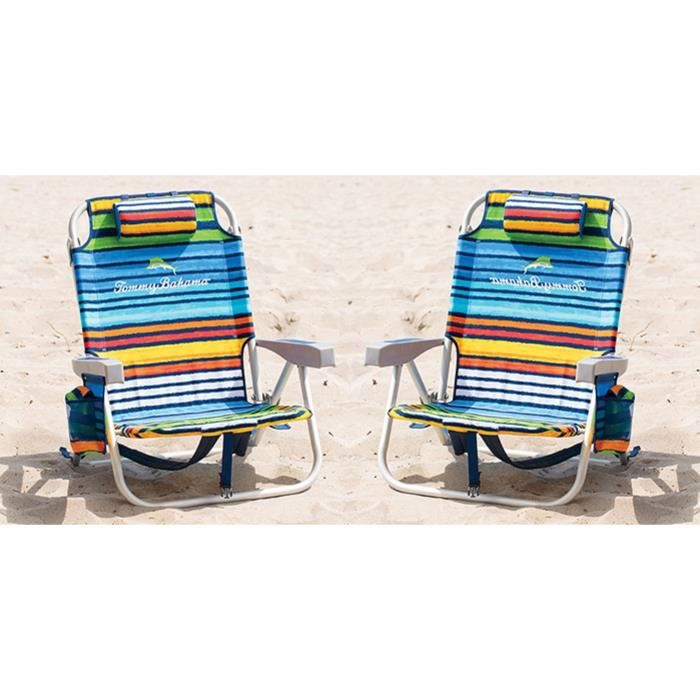 2x Sac 224 Dos Pliable Plage Chaise Tommy Bahama 5 Position