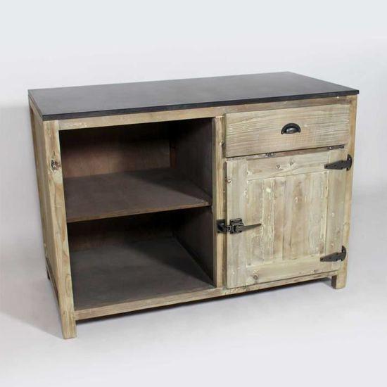 meuble cuisine avec rangements en bois recycl jc15 achat vente elements bas meuble cuisine avec rangeme cdiscount