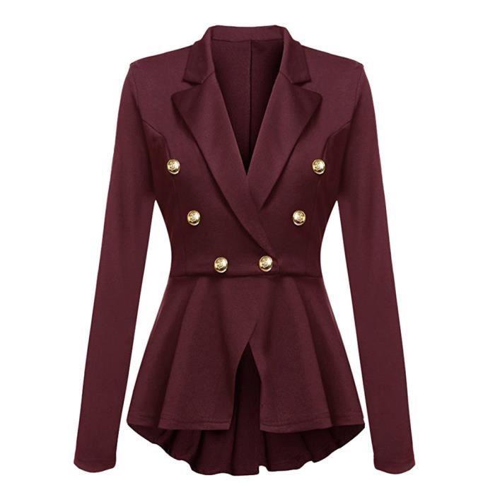 Vestes À Pour Femmes Volants Outwear Manches Décontractées Peplum Manteau Jeffrey®blazer Rwq5395 Longues Button 8IdwtqnxFZ