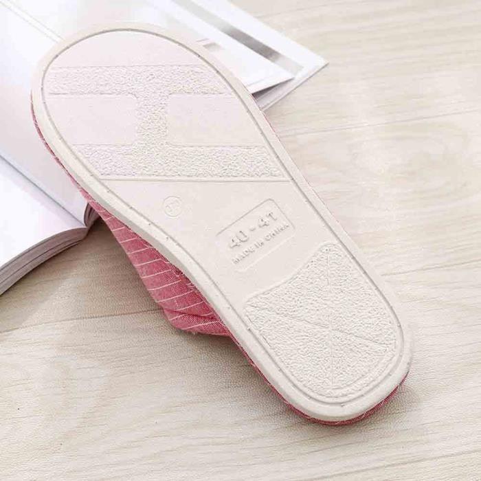 Plates Unisexe D'hiver Pantoufle Rouge Huadedu Pantoufles Filles De Mous Chaussures Chambre Sol wAtpnq6