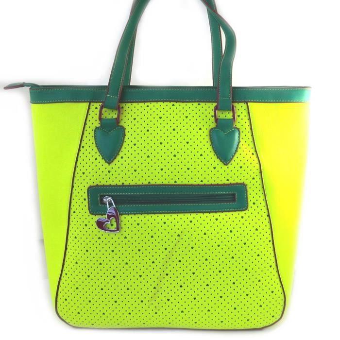 Agatha Ruiz de la Prada [M4775] - Sac créateur Agatha Ruiz de la Prada vert jaune