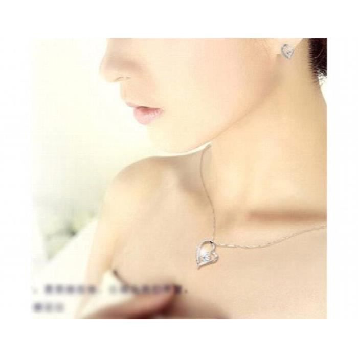 Fier de femmes de mon amour rhodié cristal et Zircon clouté Set en alliage Pendentif pour un BJRD6