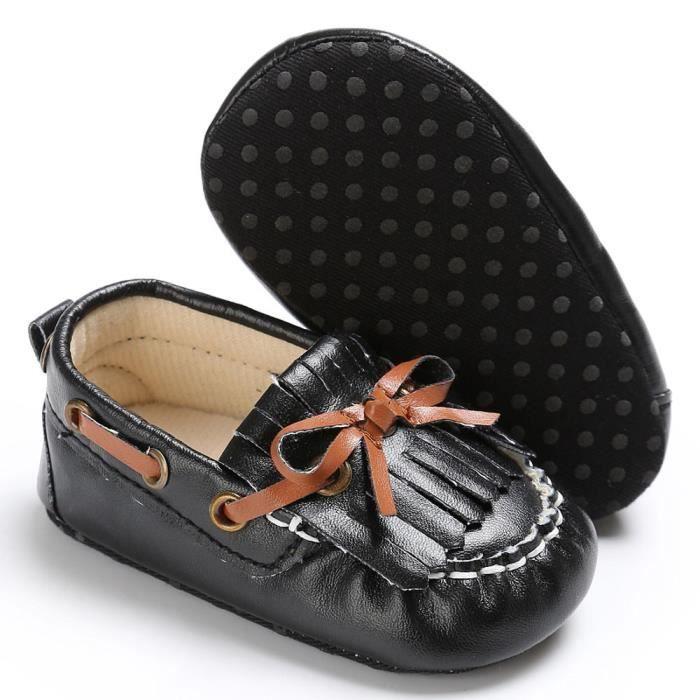 BOTTE Nouveau-né bébé fille bébé doux moccs chaussures chaussures à semelle souple antidérapante chaussures@NoirHM ABdGDhW