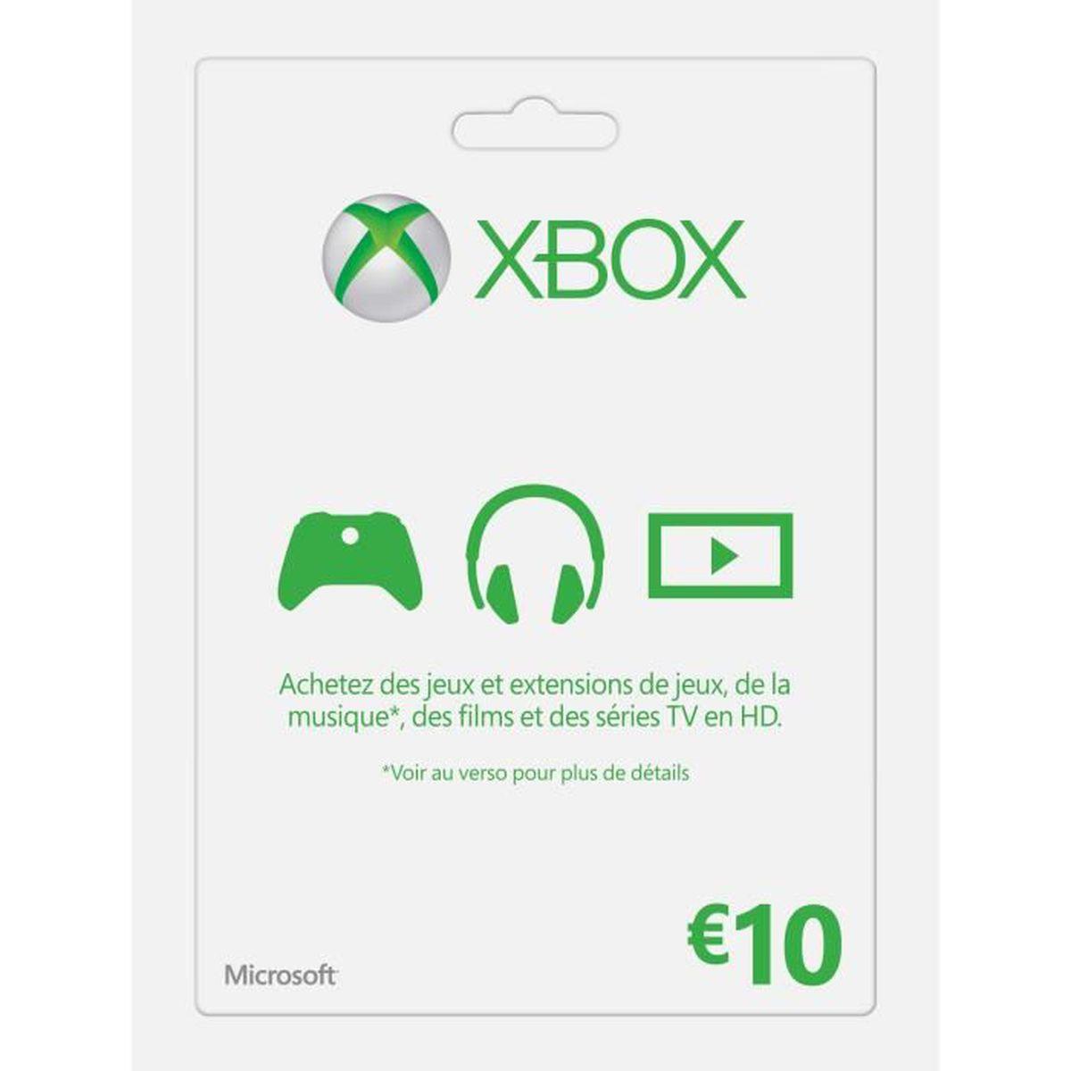 ABONNEMENT Carte XBOX Live 10€