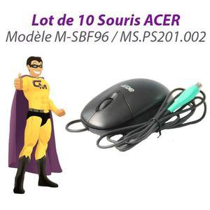 SOURIS Lot 10x Souris Optique PS/2 ACER M-SBF96 MS.PS201.