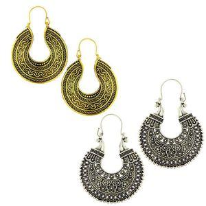 Boucle d'oreille collection tribale spéciale des femmes d'argent ox