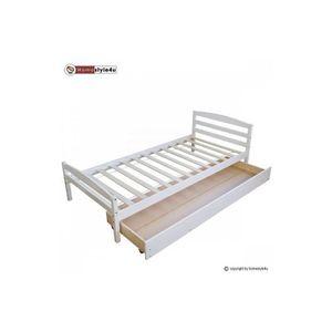Lit avec rangement achat vente lit avec rangement pas cher cdiscount - Lit simple avec rangement ...