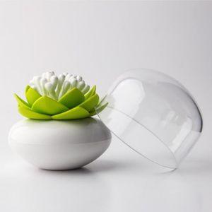 DISTRIBUTEUR DE COTON Rangement pour coton tige lotus