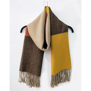 Grosse écharpe châle moutarde. 14€90  nouvelle écharpe jaune cachemire  personnalisé dame automne hiver treillis femmes a9da6d26dc4