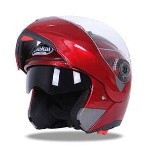 CASQUE MOTO SCOOTER Casque de Moto de marque luxe Unisexe Casque intég