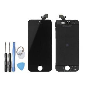 ECRAN DE TÉLÉPHONE Vitre tactile ecran LCD sur chassis iPhone 5C noir