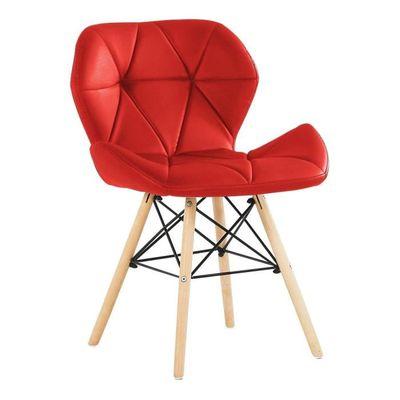 Chaise Design En Simili Cuir Rouge Salle A Manger Salon Bureau Ou