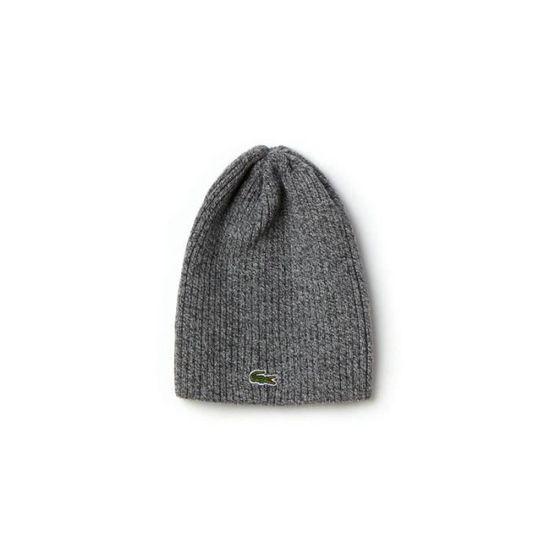 Bonnet Lacoste RB3504 en laine gris foncé chiné. - Achat   Vente ... b34584e505e