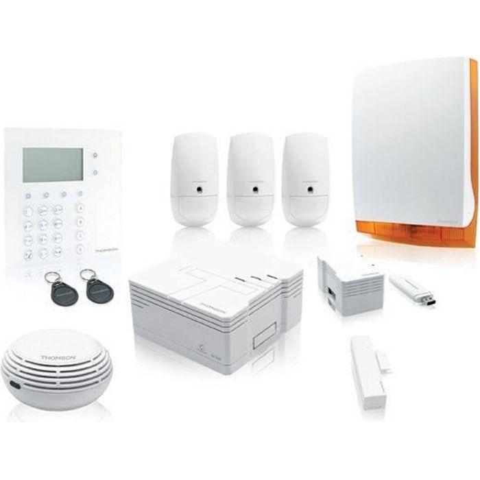 thomson pack alarme maison connect e sans fil achat vente kit alarme pack maison connectee. Black Bedroom Furniture Sets. Home Design Ideas