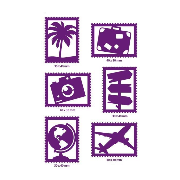 TOGA Dies 6 Timbres Voyages