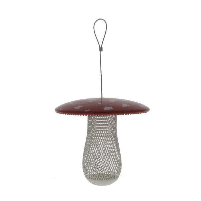 VITAKRAFT Mangeoire Champignon en métal - 20 cm - Pour oiseaux du ciel