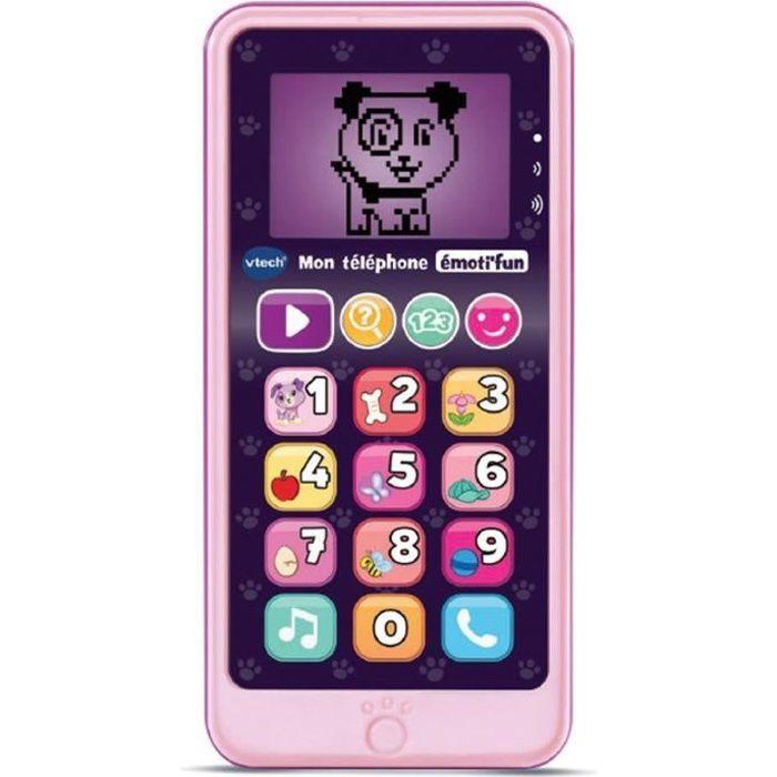 VTECH - Jouet d'Imitation Enfant - Mon téléphone émoti'fun rose