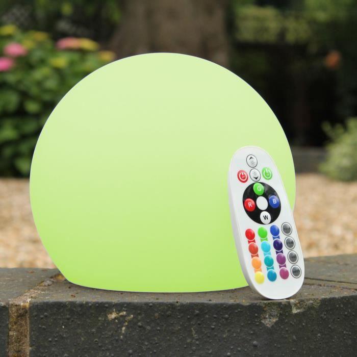 Boule Green RechargeableTélécommande De Pk Ambiance 15cm Lumineuse Multicolore Lampe Rgb Lumière Led Ronde Sphère q35jLAR4