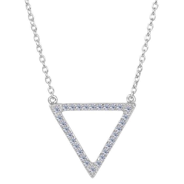 Pendentif- Triangle en argent sterling en forme de CZ pendentif, 18