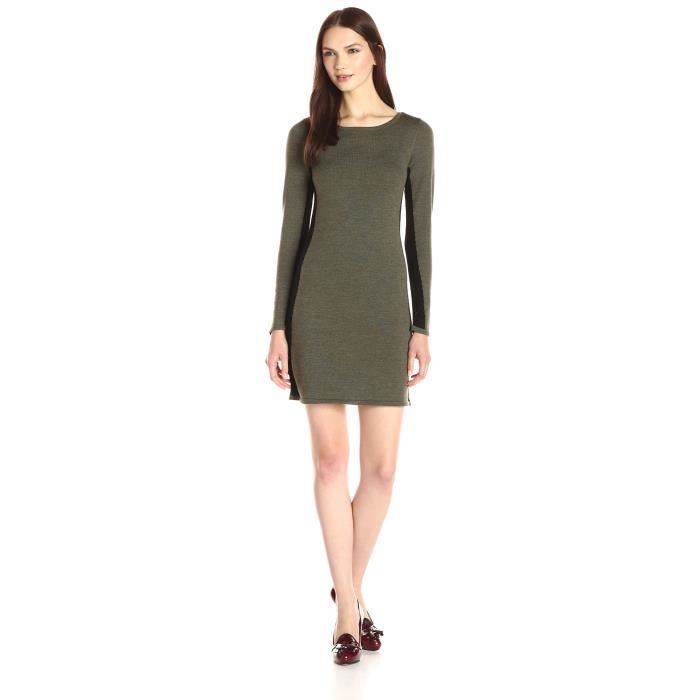 ce660fc53de Design History Robe longue à manches longues pour femmes Y2GKO Vert ...