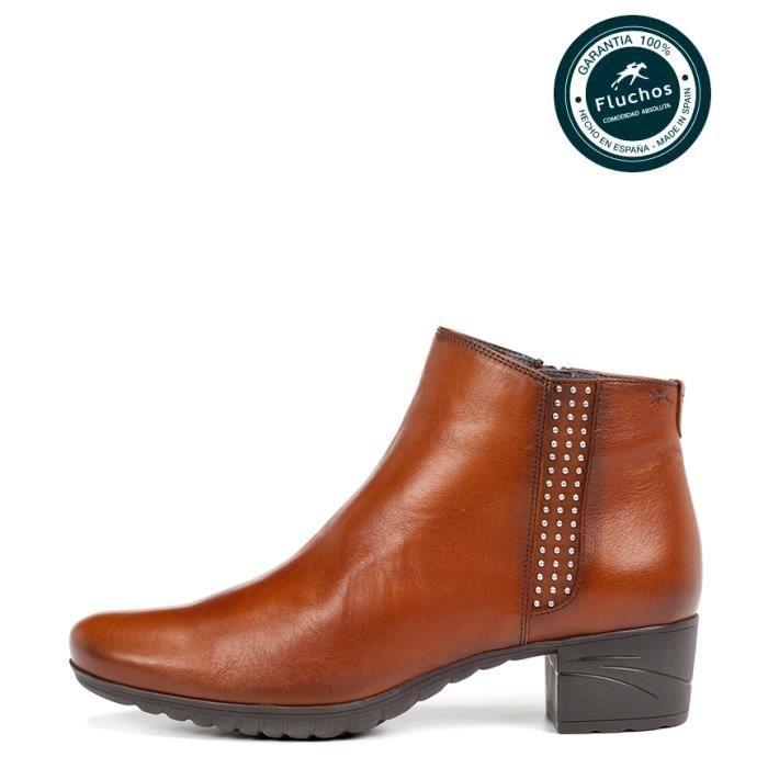 Fluchos - Talon en cuir bottes en cuir Charis -Hauteur: 4cm