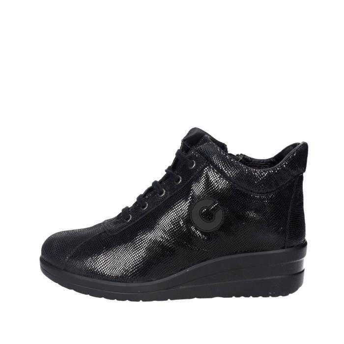 Cinzia Soft Haute Sneakers Femme Noir, 37