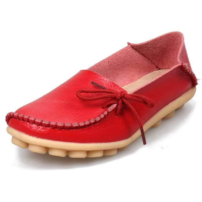 Leather Moccasins Loafers Driving Casual Shoes Indoor Flat Slip-on Slippers KT5BK Taille-38 rohfu7