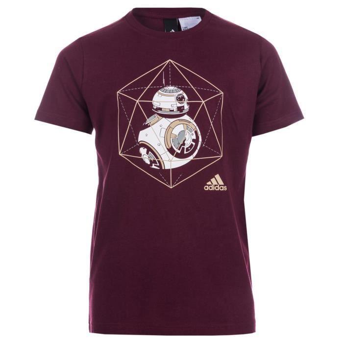 274f34503d0be T-Shirt adidas Star Wars BB-8 pour enfant en rouge. Bordeaux - Achat ...