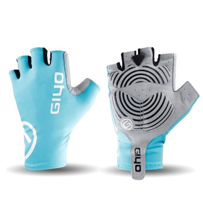 Breaking Wind Bikes - doigt gloves Anti-slip course de vélo bicycle MTb gloves Light Blue