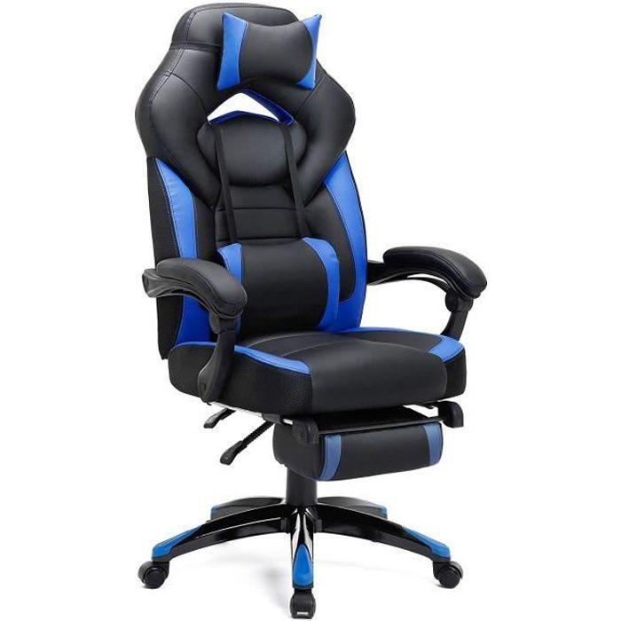 Réglable De Gamer Obg77bu Télescopique Fauteuil Gaming Leu Noir Kg 150 Et Charge Songmics Ergonomique Chaise Bureau CBdrxQtsh
