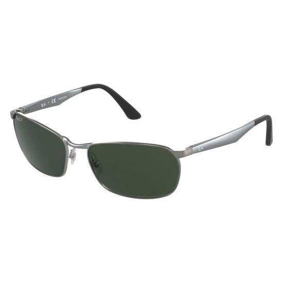 6570284120a8fa Lunettes de soleil Ray Ban RB3534 -004-58 Argent - Gris - Achat   Vente  lunettes de soleil Homme Adulte Gris - Soldes  dès le 9 janvier ! Cdiscount