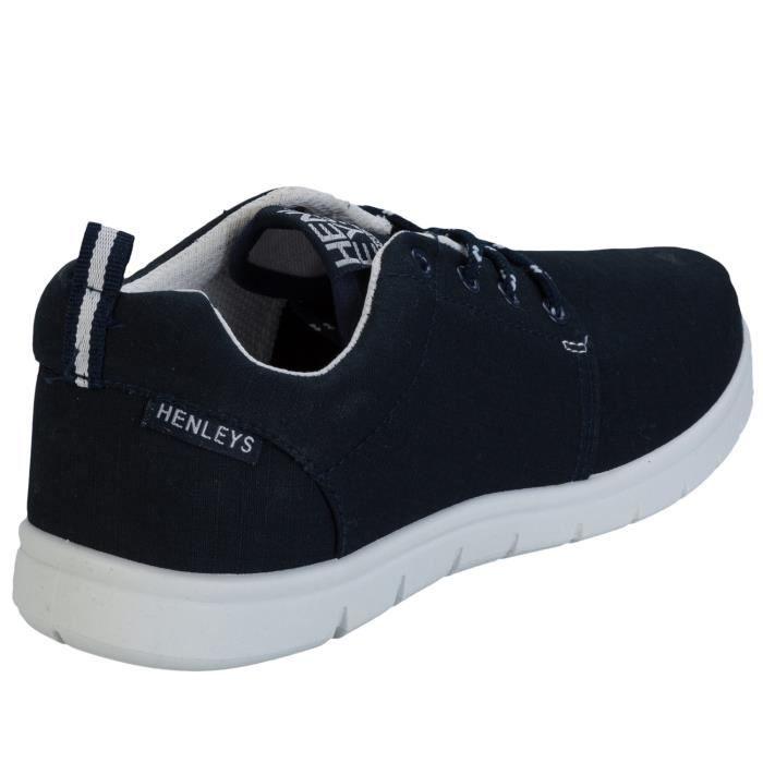 Baskets filet Henleys pour dame en bleu marine fQdU4JHo