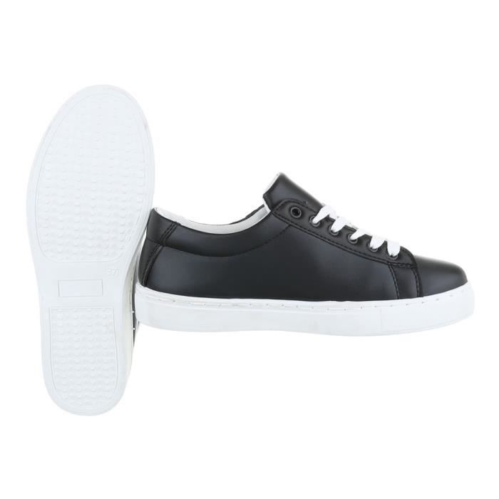 Femme chaussures loisirs chaussures Used optique Sneakers noir 41