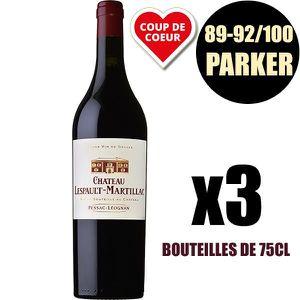 VIN ROUGE X3 Château Lespault-Martillac 2016 75 cl AOC Pessa