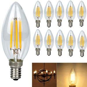 AMPOULE - LED 10X E14 Forme Bougie LED 4W Filament Ampoule LED L