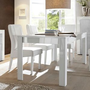 Vente Cher Laquee Table Extensible Blanc Achat Pas OPN80wkXn