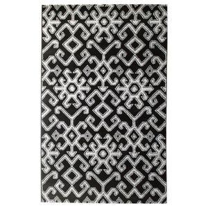 TAPIS Tapis de salon ethnique TOSCANE Noir et gris 160x2