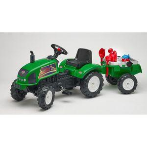 TRACTEUR - CHANTIER FALK Tracteur Farm Master 720i avec set jouets de
