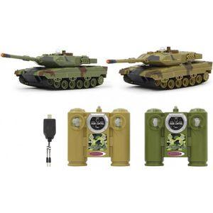 RADIOCOMMANDE Lot de 2 Chars RC de combat 27 + 40 Mhz, Tanks mil