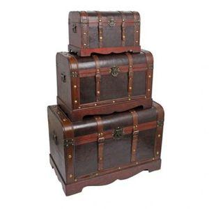 coffre pirate en bois achat vente coffre pirate en bois pas cher cdiscount. Black Bedroom Furniture Sets. Home Design Ideas