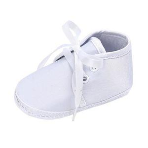 BOTTE Nouveau-né bébé garçons infantile bambin à lacets toile semelle antidérapante chaussures@RougeHM fXnlgSD