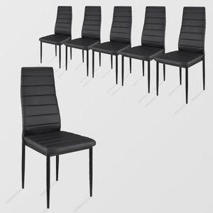 lot de 6 chaises salle a manger achat vente lot de 6 chaises salle a manger pas cher cdiscount. Black Bedroom Furniture Sets. Home Design Ideas