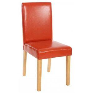 FAUTEUIL Lot de 4 fauteuils en simili-cuir coloris marron,