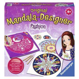 JEU DE COLORIAGE - DESSIN - POCHOIR RAVENSBURGER Mandala Designer Fashion Style 2 en 1