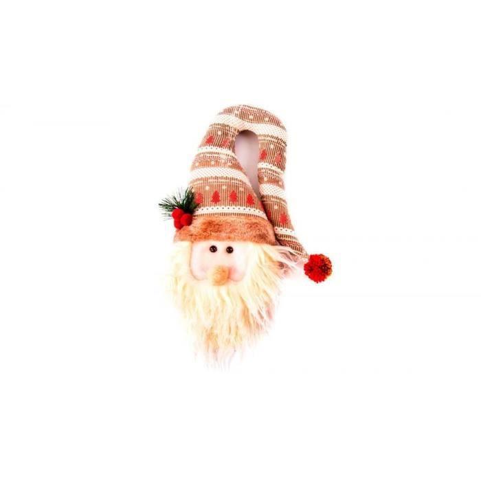 Personnage de Noël : Père Noël en tissu 33 cm