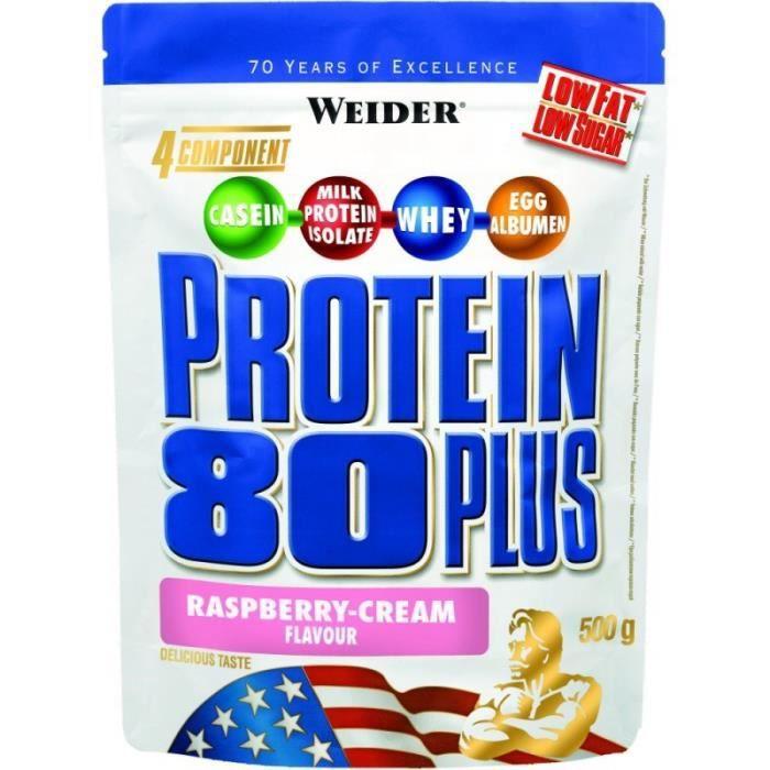 WEIDER Sachet de Protein 80+ Framboise 500g
