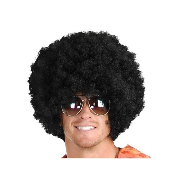 Faux cheveux afro noir perruque HA : déguisement
