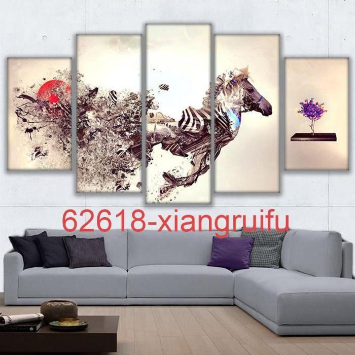 tableau decoration salon zebre achat vente pas cher. Black Bedroom Furniture Sets. Home Design Ideas