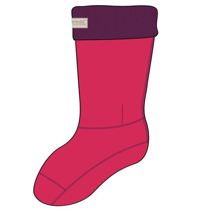 énorme réduction 33d6e 4e540 Regatta - Chaussettes en polaire pour bottes de pluie - Femme