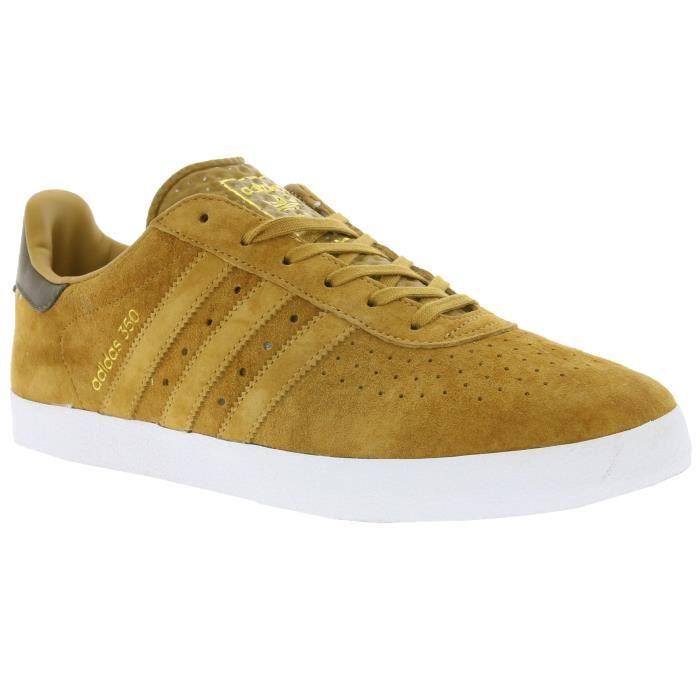 Adidas Originals 350 Hommes véritable sneaker en cuir marron